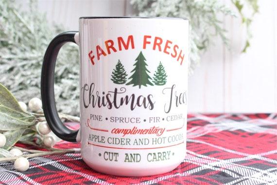 Farm Fresh Christmas Tree Coffee Mug Christmas Coffee Mugs Etsy