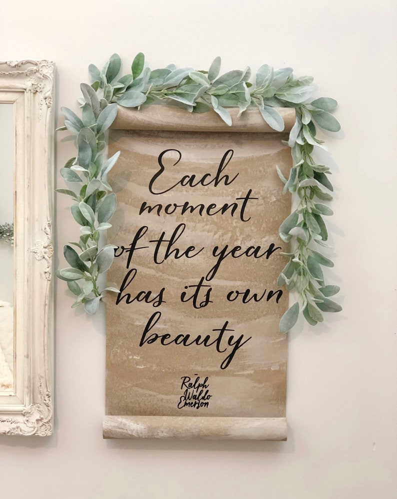 Each moment of the year has its own beauty paper scroll