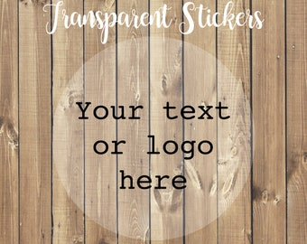 Personalized Transparent Stickers, Clear Stickers, Clear Labels, Custom Labels, Clear Logo Stickers, See Through Label, Shot Glass Sticker