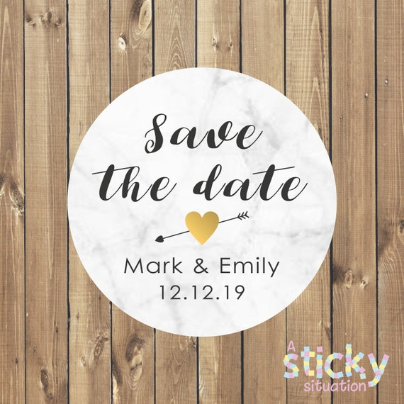 personalized save the date stickers save the date labels etsy