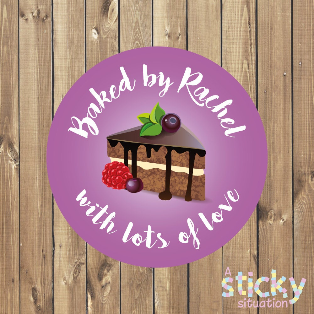 Personalized baking stickers baking labels baking stickers cake stickers cake labels small business stickers bakery label baker gift