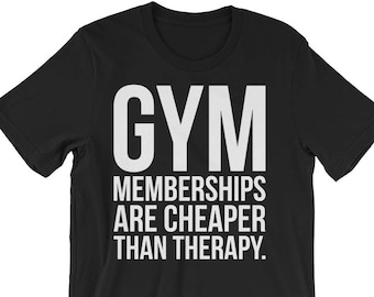 f57b92dc7ae Cheaper Than Therapy - Funny Motivational Gift For Bodybuilding