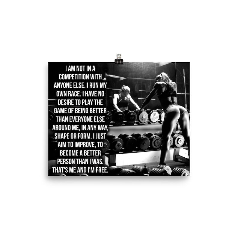 Competition, Gym Poster, Motivational Prints, Gift For Bodybuilding,  Weightlifting, Powerlifting, Crossfit, WOD, Fitness, Workout