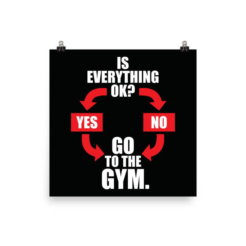 Go To The Gym, Motivational Gym Poster, Motivational Prints, Gift For  Bodybuilding, Weightlifting, Powerlifting, Crossfit, Fitness, Workout
