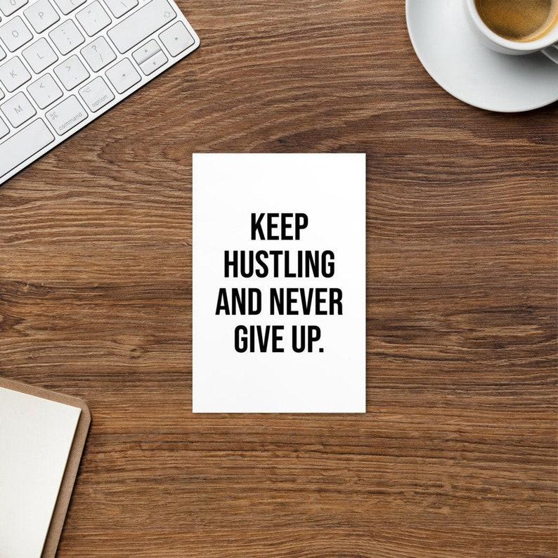 entrepreneur trader businessman motivational Keep Hustling workout business Never Give up Postcard hustler gym hustle success