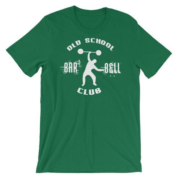 Old School Barbell - Club - Barbell cadeau pour le Bodybuilding, haltérophilie, musculation, Crossfit, WOD, remise en forme, entraînement - T-Shirt de sport unisexe 18f78b