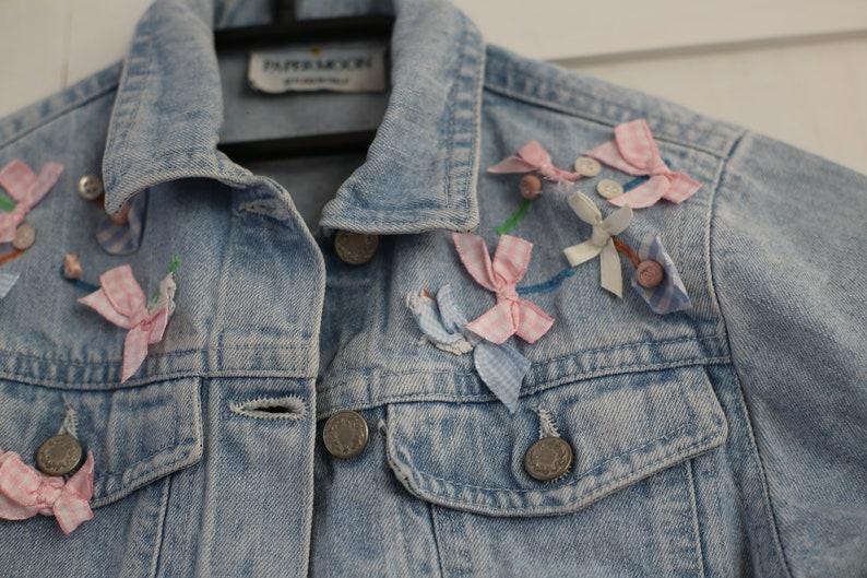 3960d8596 Vintage Baby Girls Denim Jacket Retro Cute 90s / Italian | Etsy