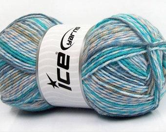 Turque fil bébé imprimé Turquoise, bleu, Camel, Beige teintes - 306 yards ae8ff70d080