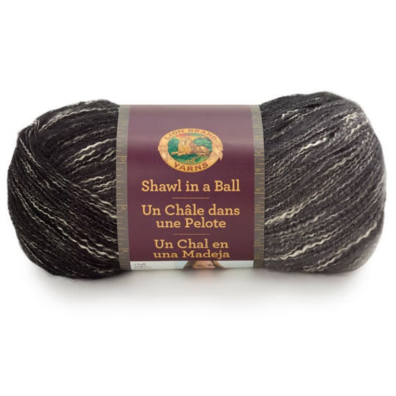 3 Pack Lion Brand Shawl in a Cake Yarn-Feng Shui Gray