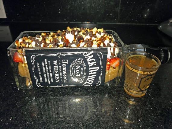 jack daniels whiskey gifts bottle planter or vase jack etsy