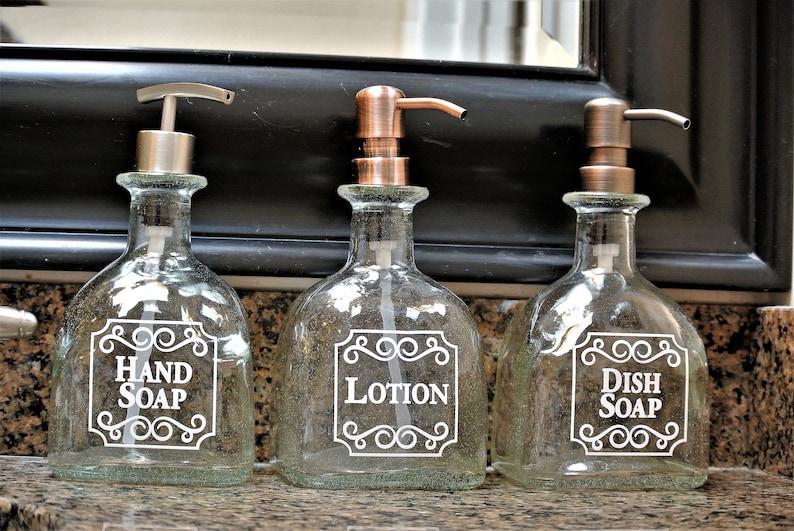 9863fd4ba125 Patron Hand Soap Dispensers / Patron Dish Soap Bottle / Bathroom Decor Pump  / Tequila Gifts / Repurposed Patron Glass Soap Dispenser Kitchen