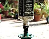 Jack Daniels Glass Bird Feeder For Garden / Bottle Bird Feeder / Gift Ideas For Dad Father Gift / Boyfriend Whiskey Gift