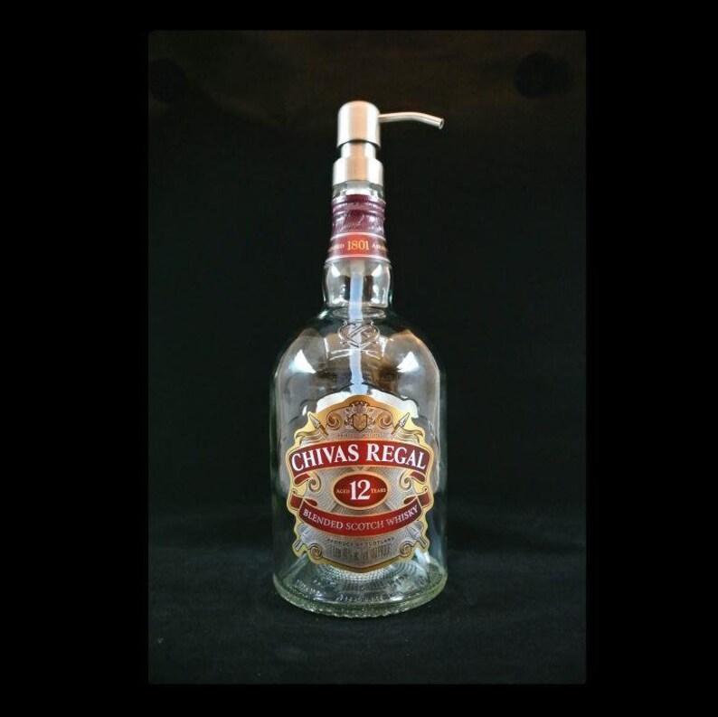 22837b2e7 Chivas Regal Soap Dispenser / Whisky Bottle Soap Dispenser / | Etsy
