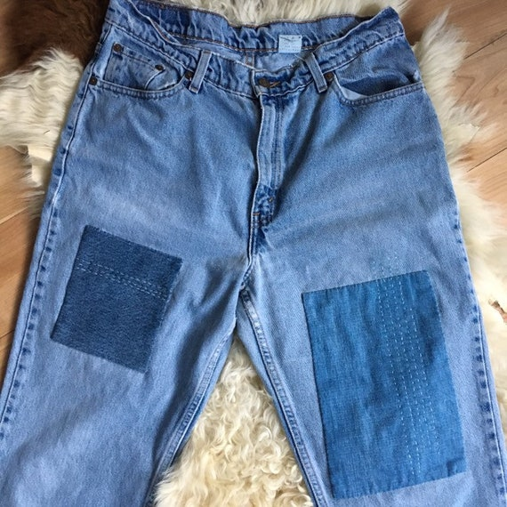 Vintage Levi's 512 Slim Fit Vintage Patched Jeans
