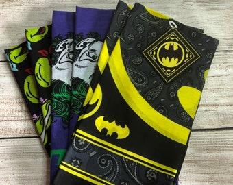 Bandana Batman, Joker, Ninja Turtle Hat Cap Lot Of 6