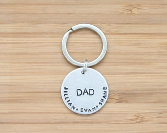 hand stamped keychain | DAD