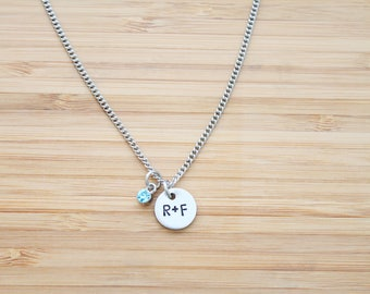 hand stamped rodan and fields necklace | r+f