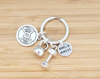 hand stamped keychain | swolemates
