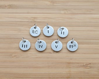 hand stamped rodan and fields charm | level add-on