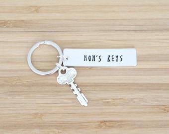 hand stamped keychain | mom's keys