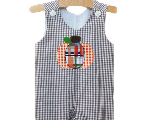 Personalized Gingham Fall Longall, Toddler Thanksgiving Coverall, Game Day Longall, Pumpkin Applique Longall, Football Longall