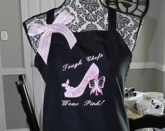 Apron, Embroidered, Breast Cancer Awareness - Think Pink