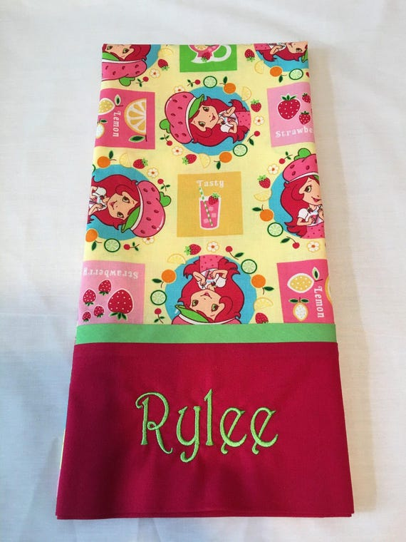 Pillowcase, Kid's Pillowcase, Standard Size, Strawberry