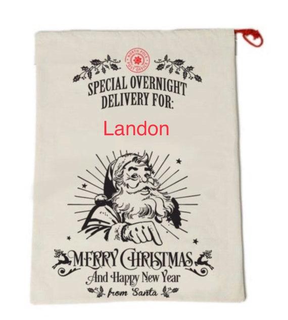 Personalized Santa Bag, Santa Bag, Santa Present Bag, Santa Present Bag, Santa Delivery Bag, Christmas Gift, Embroidered