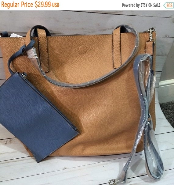 SALE Monogrammed Vegan Leather Tote Bag 19a1bab37f400