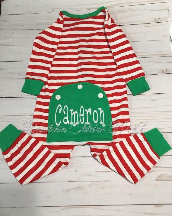 Butt Flap Christmas Pajamas, Unisex Kids Christmas PJs, Back Flap Pajamas, Union Suit Pajamas, Christmas Pajamas