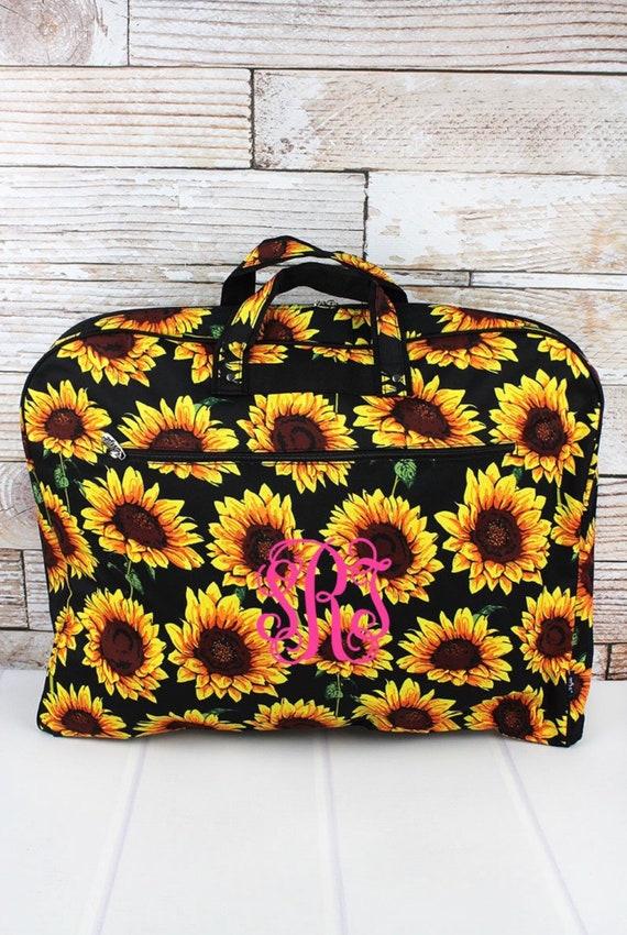 Personalized Sunflower Garment Bag, Weekend Garment Bag, Costume Bag, Travel Garment Bag, Farm Trucks, Sunflowers, Llamas