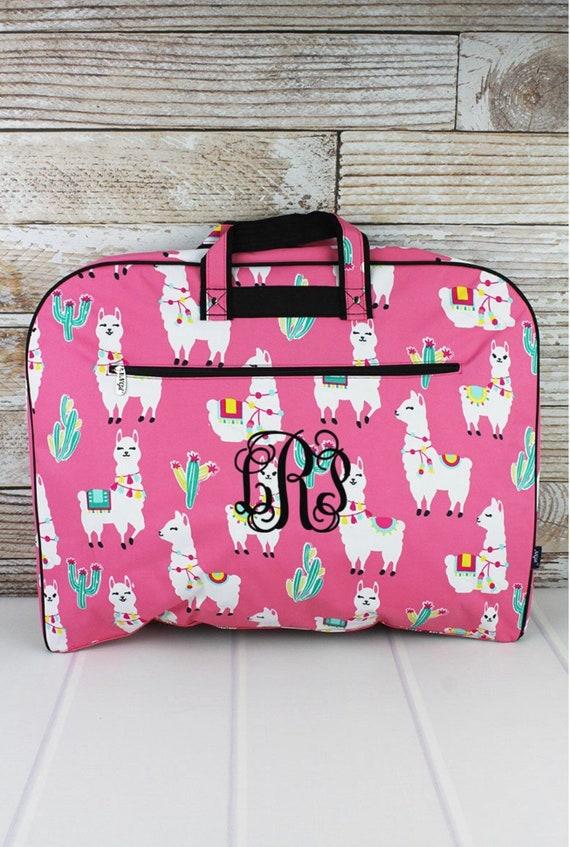 Personalized Llamas Garment Bag, Weekend Garment Bag, Costume Bag, Travel Garment Bag, Farm Trucks, Sunflowers, Llamas