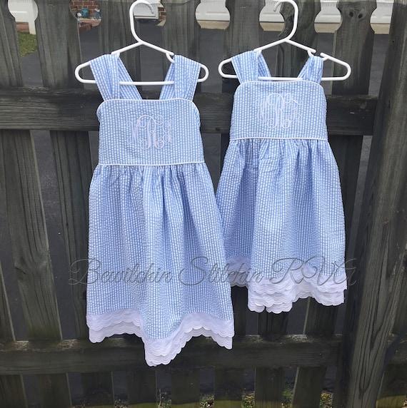 Personalized Girls Sundress, Custom Made Sundress, White Flower Girl Dress, Sundress, choice of Fabrics, Toddlers, Easter Dress