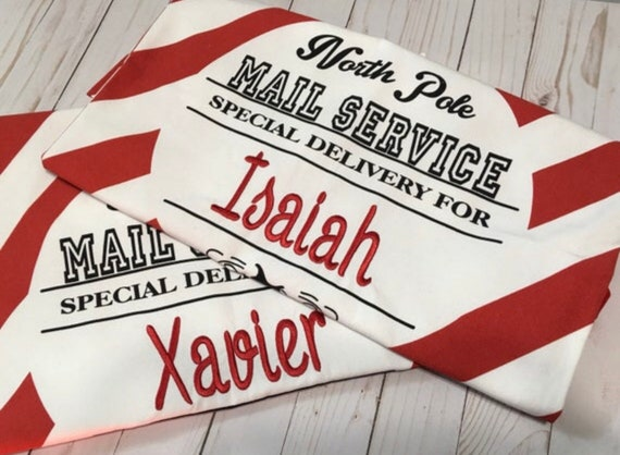 Personalized Santa Bag, Santa Present Bag, Santa Bag, Santa Delivery Bag, Christmas Gift, Christmas Sacks, Santa Claus, EMBROIDERED