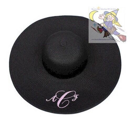 4c5d9c92 Monogrammed Floppy Hat, Floppy Straw Hat, Wide Brim Hat, Beach ...