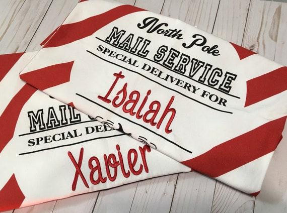 Santa Present Sack, Personalized, Santa Present Bag, Santa Bag, Santa Delivery Bag, Christmas Gift, Christmas Sacks, Santa Claus, EMBROIDERE