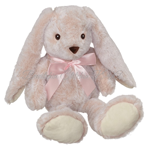 """Personalized Plush Bunny, Embroidery Buddy Bunny, 15"""" Floppy Ear Bunny, Monogrammed Bunny, CPSIA Safety Rated"""