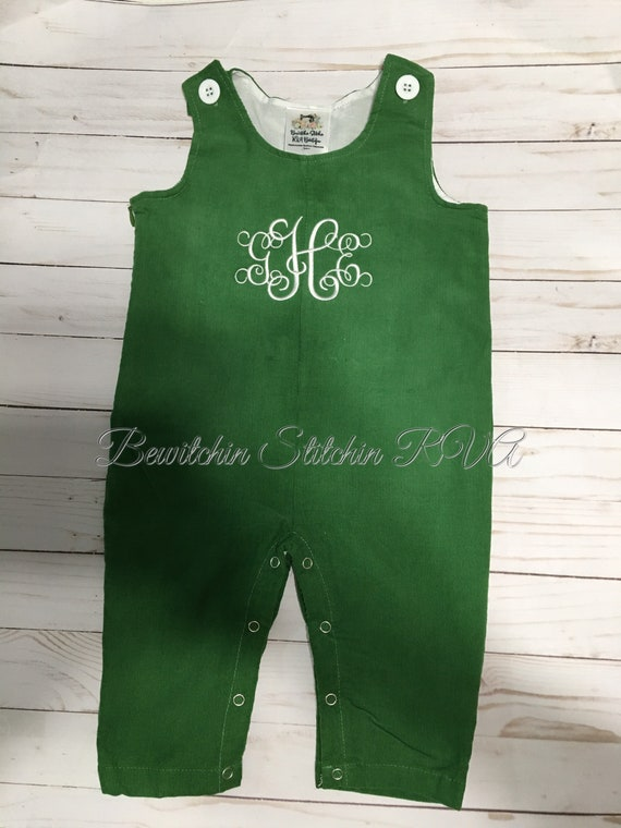 Corduroy Longall, Personalized Longall, Fully Lined, Baby, Toddler, Girls, Boys, Red, Navy, Kelley Green, Chocolate Brown, SHIPS FREE