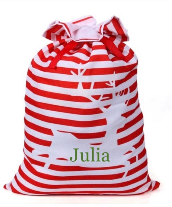 Santa Present Sack, Personalized Santa Present Bag, Present Sack, Santa Delivery Bag, Christmas Gift, Christmas Sacks, Santa Claus, EMBROIDE