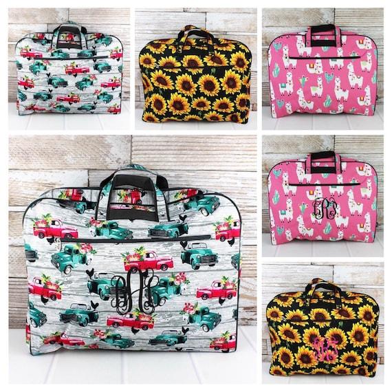 Monogrammed Garment Bag, Weekend Garment Bag, Costume Bag, Travel Garment Bag, Farm Trucks, Sunflowers, Llamas