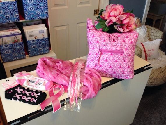 Breast Cancer Comfort Purse, Purse, Cross-Body Purse, Pillow Insert - Think Pink