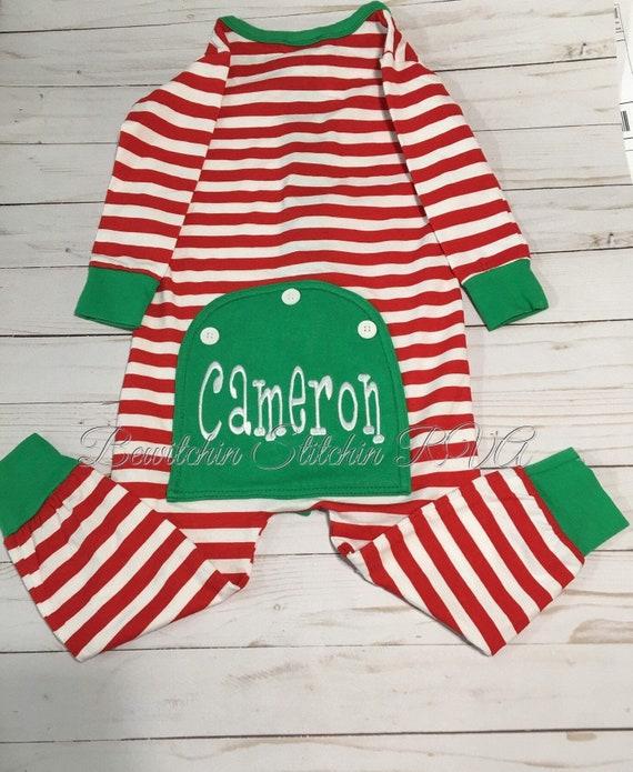 Personalized Butt Flap Christmas Pajamas, Unisex Kids Christmas PJs, Drop Seat Pajamas, Union Suit Pajamas, Christmas Pajamas