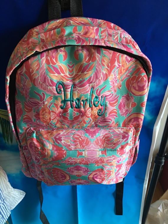 Personalized Preppy Backpack, Personalized School Bag, Personalized Lunch Box, Monogrammed Backpack Set, CLEARANCE