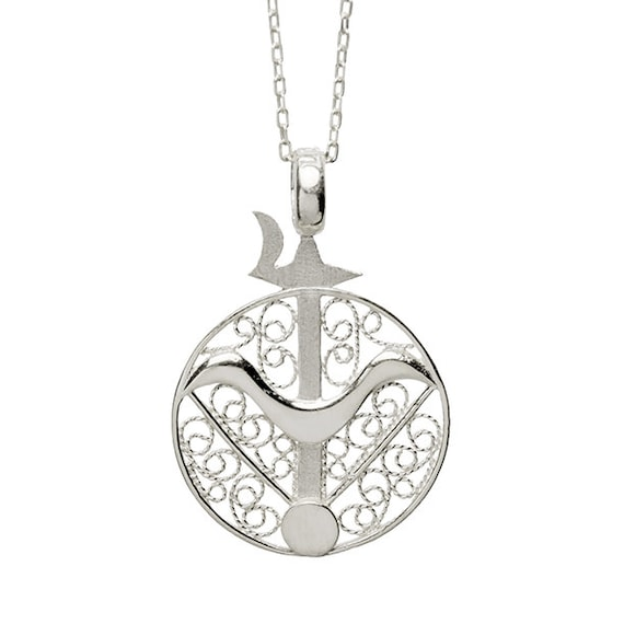 Sagittarius Pendant Necklace Silver-plated Gift for Sagittarian
