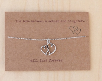 University Gift To Daughter Mum Travelling Keepsake Heart Necklace With Message Birthday Or Mothers Day Unusual