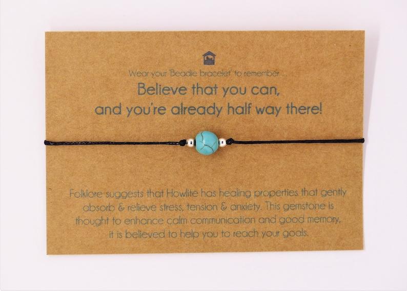 **Congratulations New Job**Wish Bracelet* Friendship Card Gift Exams Personalise