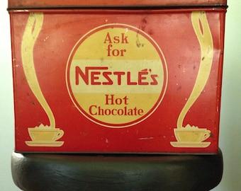 Art Deco Nestle store display tin