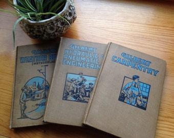 Set of 3 Gilbert instructional books for boys 1920