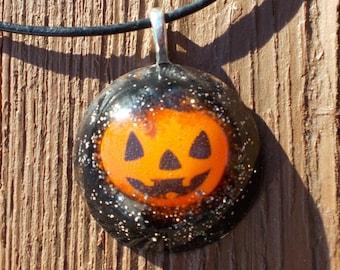 Sparkly Pumpkin necklace