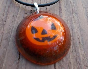 Orange Pumpkin necklace